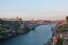 Portugal. porto city. view of douro river embankment Stock Photos