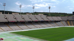 Types of Barcelona. Lluís Companys Olympic Stadium. Stock Footage