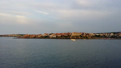 Sozopol seaside and harbor Stock Footage