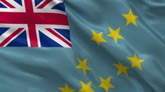 Flag of Tuvalu seamless loop Stock Footage