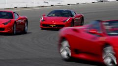 Ferrari track day Stock Footage