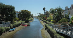 4K video of the Venice canals near Venice beach, Los Angeles Stock Footage