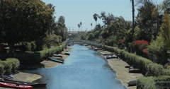 4K video of the famous Venice canals near Venice beach, Los Angeles Stock Footage
