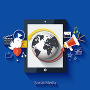 Social media. cloud of application icons Stock Illustration