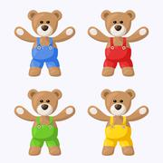 Teddy bears with pants Stock Illustration