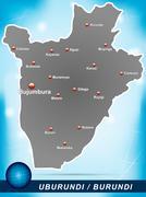Stock Illustration of map of burundi