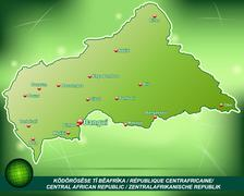 map of central african republic - stock illustration