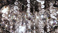 Background of fashion crystals on the chandelier Stock Footage