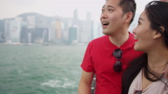 Ethnic Tourists Sailing Chinese Junk Close Up Stock Footage