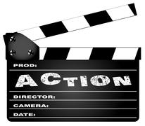 Stock Illustration of action movie clapperboard