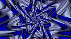 Rotate Morphing Flower Blue & Grey - LoopNeo VJ Loops HD 1920X1080 Stock Footage