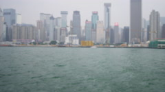 Hong Kong City Sightseeing Aboard Traditional Chinese Junk - stock footage