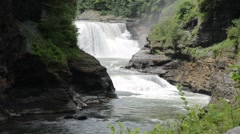 Lower Falls, Letchworth State Park, New York 1080/30 16s Stock Footage