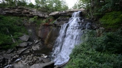 Brandywine Falls, Cuyahoga Valley National Park, Ohio 1080/30 17s Stock Footage