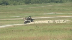 Tanks firing their guns Stock Footage