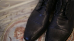 Masculine shoes Stock Footage