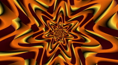 Rotate Morphing Flower Orange Dark - LoopNeo VJ Loops HD 1920X1080 Stock Footage