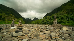 1080HD Tahiti river and mountains timelapse - stock footage