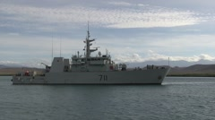 Royal Canadian Navy conducts Mediterranean Mooring Stock Footage