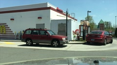 Busy fast food drive thru (5 of 6) Stock Footage