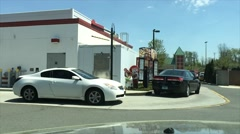Busy fast food drive thru (6 of 6) - stock footage
