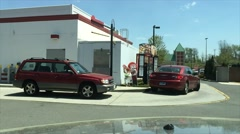 Busy fast food drive thru (2 of 6) Stock Footage