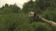 Paladin tank Firing gun Stock Footage