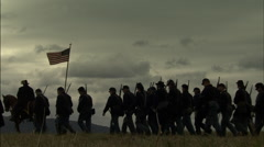 Union Soldiers marching Stock Footage