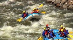 White water rafting in Colorado Stock Footage