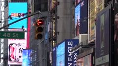 Times Square, Broadway, New York City, Manhattan Stock Footage