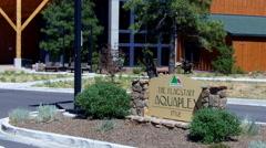 Flagstaff Aquaplex Sign And Entrance- Flagstaff Arizona Stock Footage