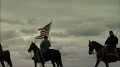 Union Soldiers on horses - stock footage