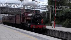 Transportation vintage steam engine Stock Footage