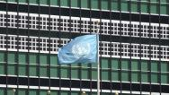 Stock Video Footage of Flag at United Nations, UN, World Government