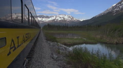 Alaska railroad - view from the alaskan train Stock Footage