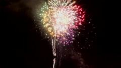 4K Colorful Fireworks Light Night Sky Stock Footage
