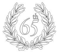 65th laurel wreath - stock illustration