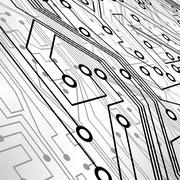 Circuit board vector background Stock Illustration