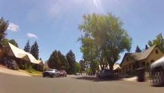 Fast Rolling Down Neighborhood Street In Small Town America Stock Footage