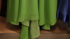 Green dress Stock Footage