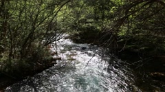 A stream at jiuzhaigou valley national park in china Stock Footage