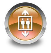 icon, button, pictogram elevator - stock illustration