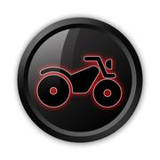 Icon, button, pictogram atv Stock Illustration