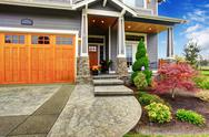 Stock Photo of house exterior with curb appeal