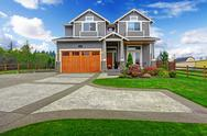 Stock Photo of house exterior. large countryside house