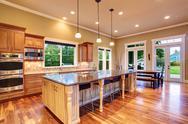 Stock Photo of kitchen interior in luxury house