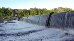A barrage. Iller near Senden Stock Footage