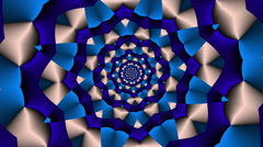 Rotating Star square with color changes Blue - LoopNeo VJ Loops HD 1920X1080 Stock Footage