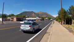 Traffic On Route 66 In Central Flagstaff Arizona Stock Footage