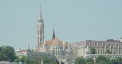 4K video of Matthias Church and Fisherman's Bastion on Castle hill in Budapest Stock Footage